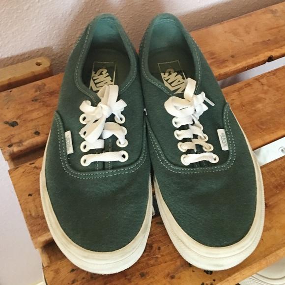 bccc48992ffe Dark Green Vans. M 5b7716fef4145217dd34ed49